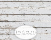 """Photography Backdrop 3ft x 2ft, Old White Wood Photography Backdrop or Floordrop, Vintage Old White Wood Floor Backdrop """"Weathered Whites"""""""