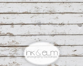 "Product Photography Backdrop 6ft x 6ft, Old White Wood Food or Product Backdrop, Vintage Old White Wood Background ""Weathered Whites"""