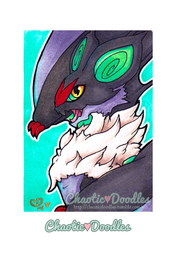"ATC ""Noivern"" Pokemon Inspired Copic Marker Card"