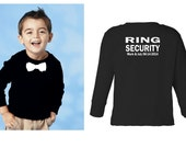 Personalized Ring security shirt Ring Bearer shirt tshirt bowtie tee wedding attire long sleeve