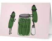 Ninja Pickles Blank Card