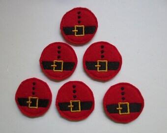 Santa Belt Felt Embroidery Embellishments - 267