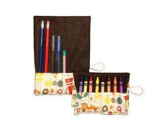 CLEARANCE Convertible Crayon/Pencil Roll | Boy Crazy