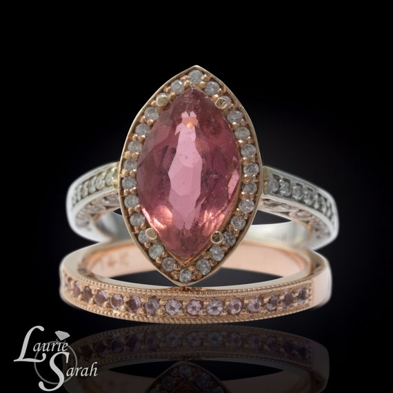 Marquise Engagement Ring Marquise Cut Pink Tourmaline