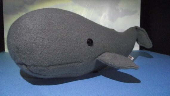 Whale, Sperm Whale Special Price Stuffed Fish Animal Pattern to Sew Revised...Paper Pattern
