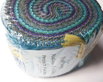 Malam Batiks Lagoon Fabric Strips Jelly Roll Pixie Strips Jinny Beyer