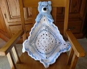 Crochet Baby Blanket Teddy Bear Lovey Size - Made to Order