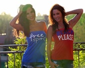 Free Spirit and Beach, Please.  Patriotic Feel Naked Tshirt Tubes.  One Size.