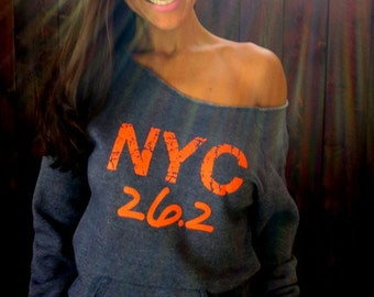 NYC Marathon- These streets will make you feel brand new- Off the Shoulder Girly Sweatshirt
