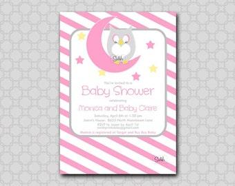 Owl Baby Shower Invitation - Printable 5x7 Invite