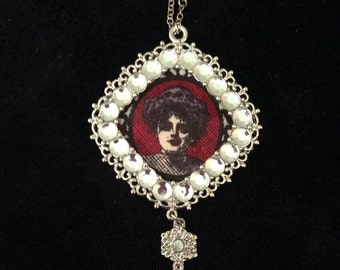 Victorian Style Silver Zombie-Themed Pendant