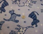 New - Blue Dogs Anti-Pill Fleece Fabric