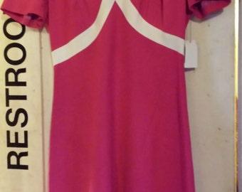 Vintage Pink 60s Dress Size 4