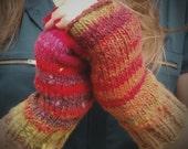 Fingerless mittens // fingerless gloves // Noro kureyon (sale)