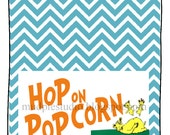 Dr. Seuss Suess Hop on Popcorn Tag Label - TWO SIZES - Digital File