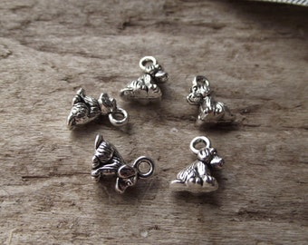 Little Puppy Dog Tibetan Silver Charms -15
