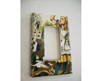 Alice in Wonderland rocker switch plate retro vintage Victorian fantasy decor dimmer switch