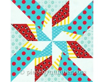 Dancing Arrows star quilt block pattern, paper pieced quilt patterns, instant download PDF patterns, star quilt patterns, star patterns