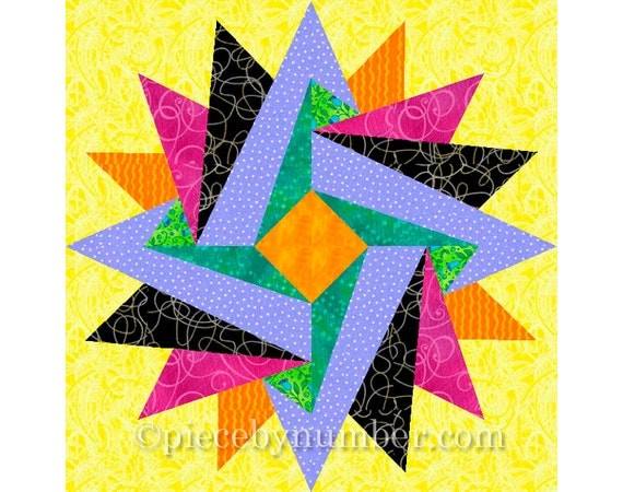 Indian Summer Paper Piecing Quilt Pattern By