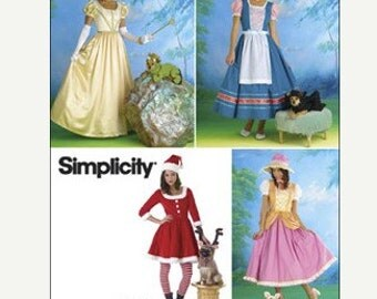 Sewing Pattern Simplicity 0790 Misses' Story Book Costumes Dog Costumes Uncut Complete