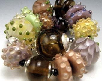 "Art Glass Bracelet...Lampwork...""Spumoni"""