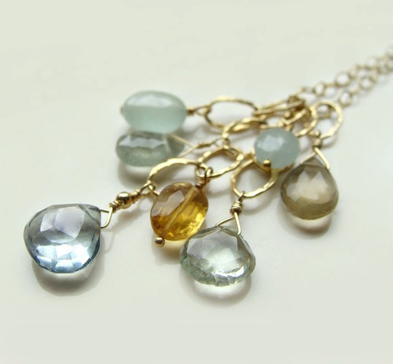 Fiesta Oceanic Necklace with Mystic Topaz Green Amethyst Citrine