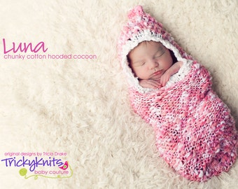 New Baby Knitting Pattern Books : Newborn Cocoon Knitting Pattern for Newborn Photo Prop or Baby