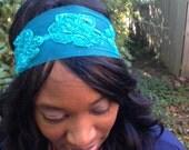 Bohemian Headband, Tulle Headband, Cute HeadBand, Stylish Headband, Blue Headband, Women's Fashion Hair Accessories, Hair Band, Boho