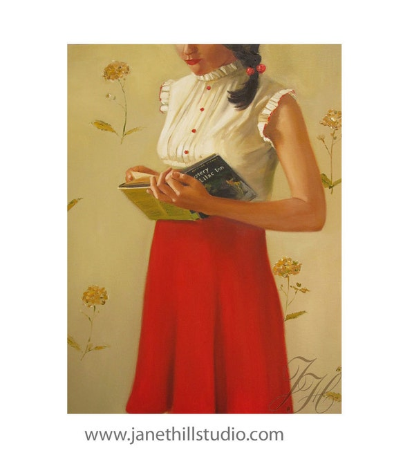 A Mystery Lady- Art Print From Original Oil Painting