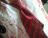 shaunette SHAUN of the DEAD red striped TIE girls halloween costume zombie gender reversal genderswap female cosplay outfit horror accessory