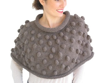Brown Pop Corn Cowl by Afra