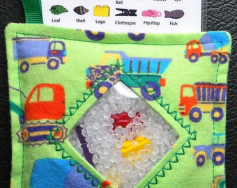 I Spy Bag - Mini with SEWN Word List and Detachable PICTURE LIST- Construction Site