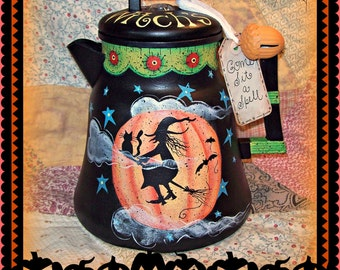 Apple Tree Cottage Original Design E Pattern  - Witch's Brew Coffee Pot