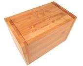 Personalized Recipe Box - Monogram, Names, Date