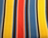 Vintage 1970s Striped Fabric - Multiple Yards Available - Fabric Yardage / Fabric Yardage / Cotton Fabric / 1970s Fabric  / 1970s Stripe