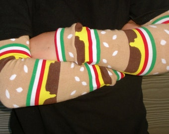 Leg and Arm Warmers for Boys/Girls - Triple Cheeseburger - Leggings for Infant, Baby, Toddler, Kid, Tween - Great Birthday or Shower Gift