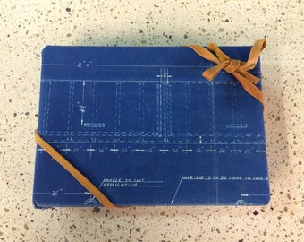 Gift wrapping with scraps of vintage Blueprints or Vintage Velvet/Flock Wallpaper. Please inquire if you are interested in larger prints