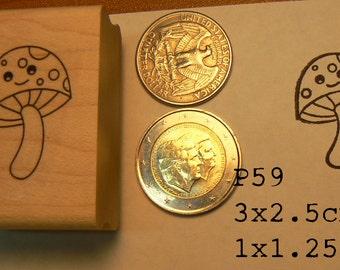 P59 Mushroom rubber stamp