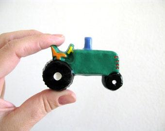 Green Tractor Drawer Knob
