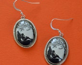 Sale 20% Off // AFTERNOON READING in the PARK Earrings - Silhouette Jewelry // Coupon Code SALE20
