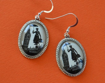 Sale 20% Off // MARY POPPINS Earrings - Silhouette Jewelry // Coupon Code SALE20