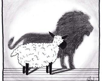 Lamb to Lion CARTOON