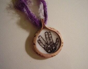 Live Long And Prosper Pendant, Hand Pendant, Spock Hand Pendant, Glass Spock Hand Pendant
