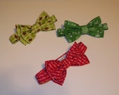 Christmas Bow tie Boys Infant Baby boy sizes 0 to 12 yrs custom made