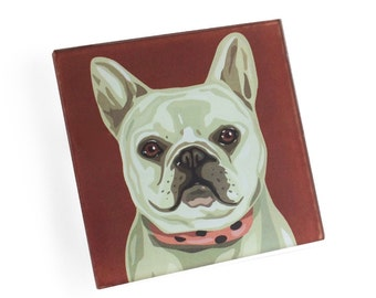 Set of 4 French Bulldog Coasters