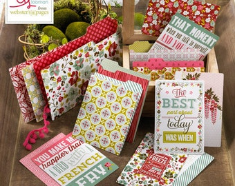 Webster's Pages Plum Seed Mini Folders & Cards