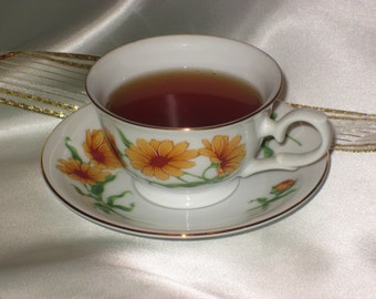 Avon Blossoms of the Month Series 1991 Tea Cup and Saucer