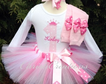 1st Birthday Outfit - Baby Girl Tutu - Pink Party Dress - Cake Smash Photo Prop