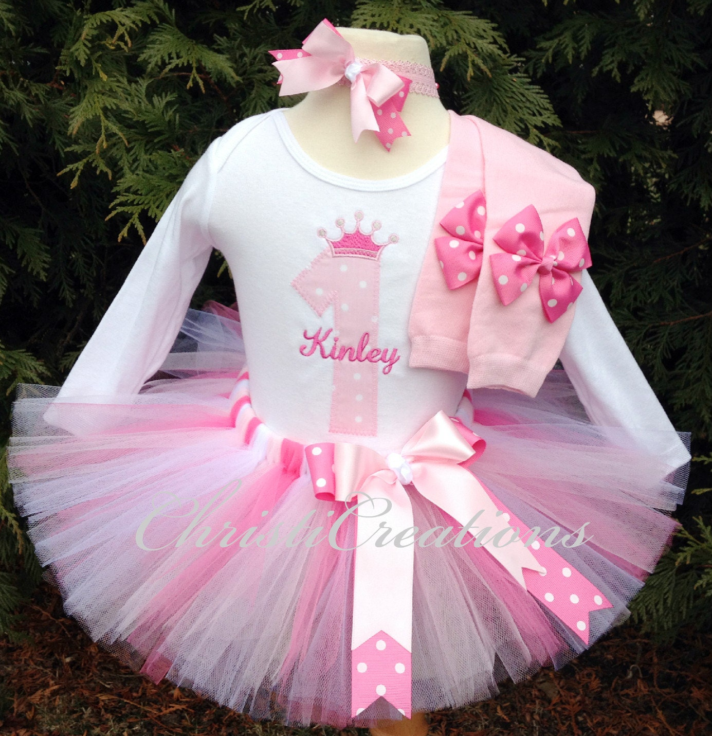 1st birthday outfit baby girl tutu pink party dress cake