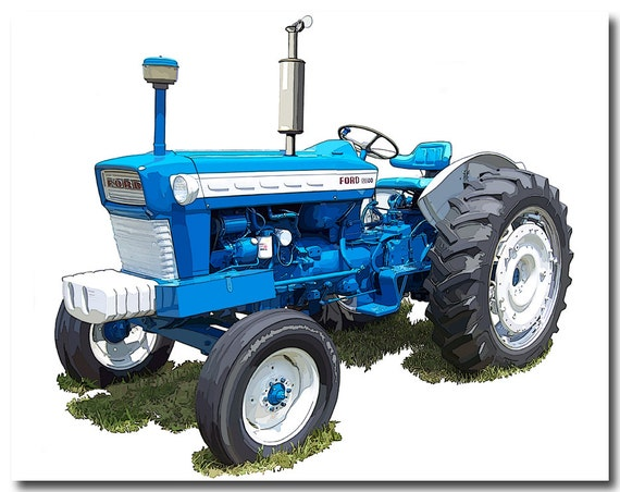 Ford 5200 Tractor Farm : Items similar to ford model farm tractor canvas art